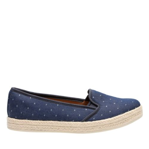 Retro sneakers Azella Theoni In Navy Denim $85.00 AT vintagedancer.com