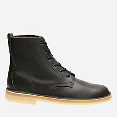 Desert Mali Charcoal Leather originals-mens-boots