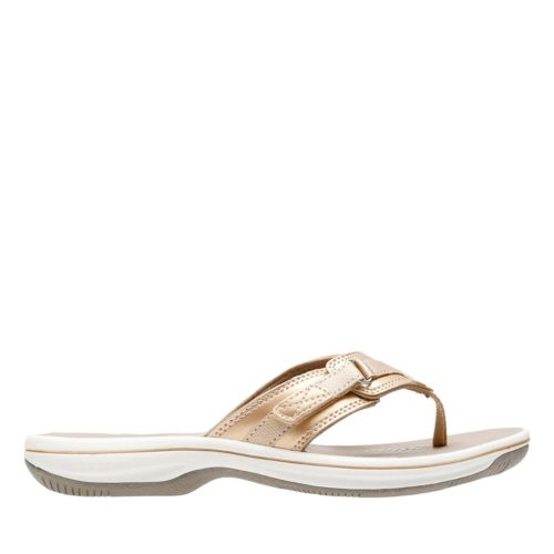 Breeze Sea Gold Synthetic womens-flip-flops-sandals