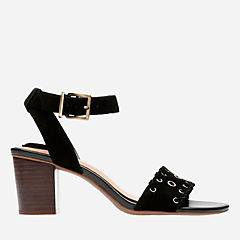 Ralene Sheen Black Suede womens-sandals-heels