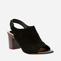 Ralene Shine Black Suede womens-heels