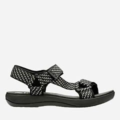 Brizo Cady Black Textile womens-sandals-sport