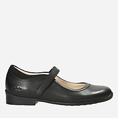 Emily Jo Inf Black Leather kids-school-shoes