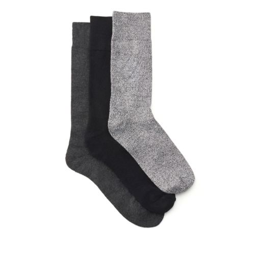 Men's 3-Pack Basic Diamond Socks  Black/Grey mens-accessories