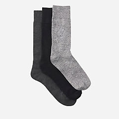 Men's 3-Pack Solid Socks  Black/Grey mens-accessories