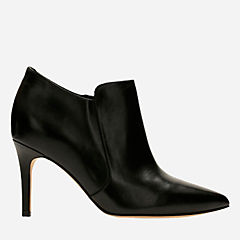 Dinah Spice Black Leather womens-heels