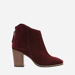 Lora Lana Burgundy Suede womens-ankle-boots