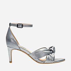 Amali Tulip Silver Metallic Leather womens-heels