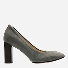 Grace Eva Grey Suede womens-heels