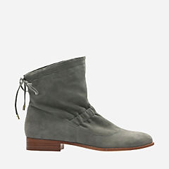 Alba Evie Grey Suede womens-ankle-boots