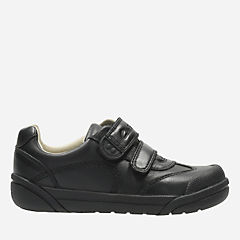 Lil Folk Zoo Toddler Black Leather boys-shoes