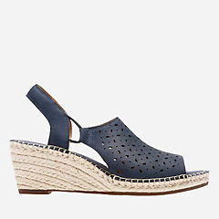 Petrina Gail Navy Nubuck womens-sandals-wedge