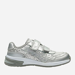Piper Play Toddler Silver Leather girls-sneakers