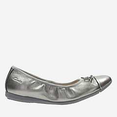 Dance Puff Youth Silver Combi Leather girls-view-all