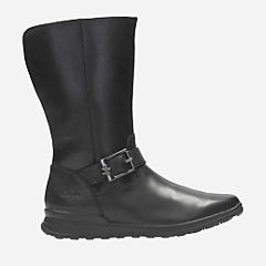 Mariel Star Youth Black Leather girls-boots