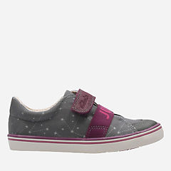 Comic Moe Toddler Grey Canvas girls-sneakers