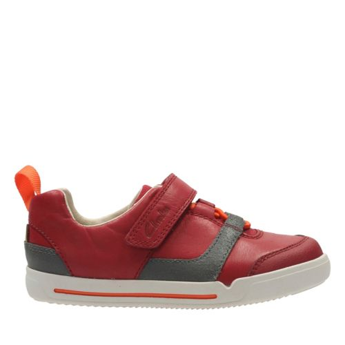 Lilfolk Joe Toddler Red Combi Lea boys-sneakers
