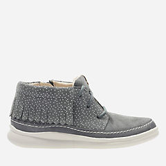 Cloud Aklark Toddler Grey Suede girls-boots