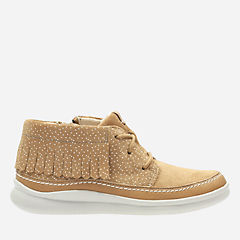 Cloud Aklark Toddler Tan Suede girls-boots