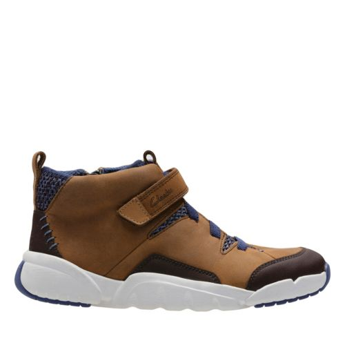 Tri Mimo Jnr Tan Leather boys-boots