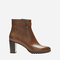 London Lights Tan Leather womens-ankle-boots