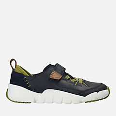 Tri Dash Toddler Navy Leather boys-sneakers