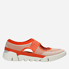 Tri Blossom Orange Combi Knit womens-active