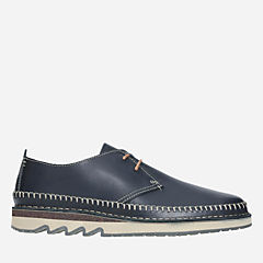 Fallton Edge Black Leather mens-casual-shoes