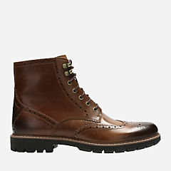 Batcombe Lord Dark Tan Leather mens-dress-boots