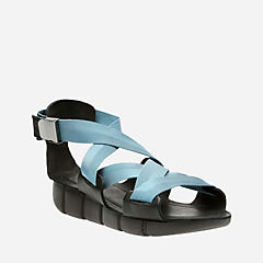 Zarya Star Black/Blue womens-flat-sandals