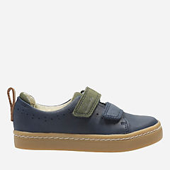 Cute Toy First Navy Leather boys-sneakers