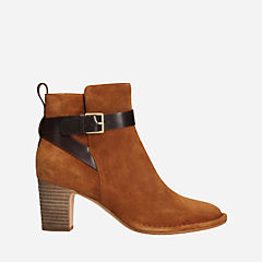 Spiced River Tan Suede womens-ankle-boots