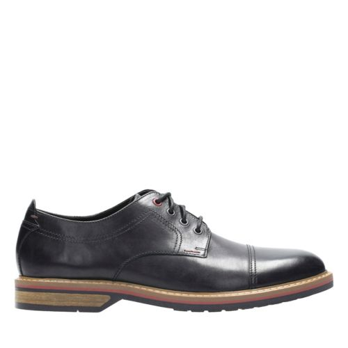Pitney Cap Black Leather mens-oxfords-lace-ups