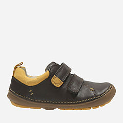 Softly Toby First Brown Leather boys-sneakers