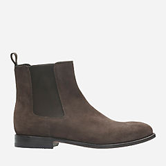 Ellis Franklin Dark Brown Suede mens-dress-boots