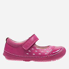 Softly Lou First Pink Leather girls-shoes