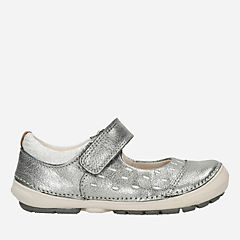 Softly Lou First Metallic Leather girls-shoes
