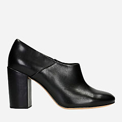 Amabel Clara Black Leather womens-heels