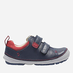Softly Toby First Navy Leather boys-sneakers