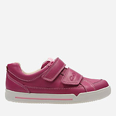 Lil Folk Hug Toddler Pink Leather girls-sneakers