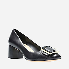 Orabella Fame Black Leather womens-heels