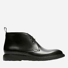 Cahal Mid Black Leather mens-ortholite