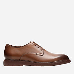 Cahal Plain Dark Tan Leather mens-oxfords-lace-ups