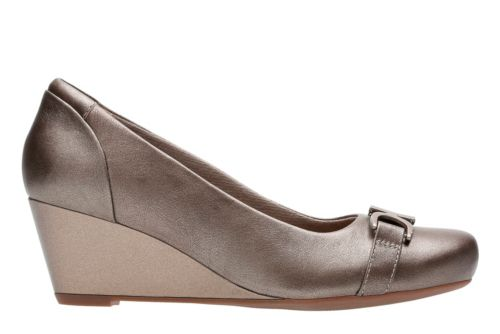 Flores Poppy Pewter Leather womens-wide-width