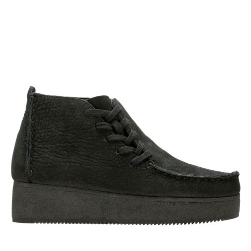 Lugger Wedge Black Nubuck originals-womens-boots