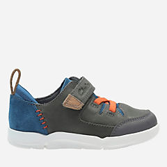 Tri Dash First Grey Combi Leather boys-sneakers