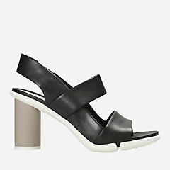 Imali Jasmine Black Leather womens-heels