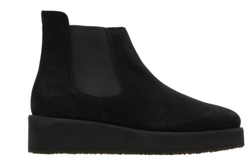 Ornella Chelsea Black Suede sale-originals
