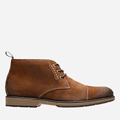Hinman Mid Dark Tan Suede sale-mens-boots