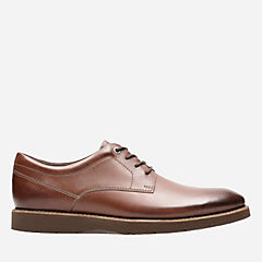 Folcroft Plain Dark Tan Leather mens-oxfords-lace-ups